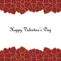 Valentine s day background for with red precious heart shaped gem stones on white Stock Photos
