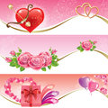 Valentine's Day banners Royalty Free Stock Photo