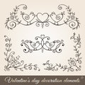 Valentine's day borders,corners and dividers.