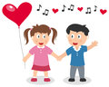 Valentine s Day Boy and Girl Stock Photo