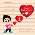 Valentine s day and boyfriend love confess on note background vector valentine s day background Royalty Free Stock Image