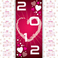 Valentine's day calendar Royalty Free Stock Photography