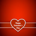 Valentine s day card with heart label Stock Image