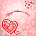 Valentine s day card red heart Stock Images