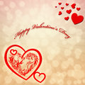 Valentine s day card red heart Royalty Free Stock Photography