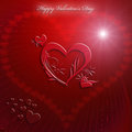 Valentine s day card red heart Royalty Free Stock Photo