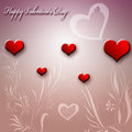 Valentine s day card red heart Stock Photography