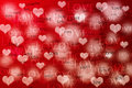 Valentine s day card red heart Royalty Free Stock Images