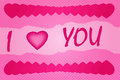Valentine s day card simple pink vector says i love you Royalty Free Stock Images