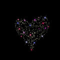 Valentine s day constellation of love on night starry background Royalty Free Stock Images