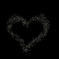 Valentine s day constellation of love on night starry background Stock Photography