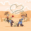 Valentine's Day of cowboy Stock Images