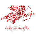 Valentine's Day Cupid with Bow and Heart Arrow Royalty Free Stock Photo