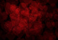 Valentine s day dark red hearts background bokeh Royalty Free Stock Photo
