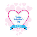 Valentine s day design a with random hearts Stock Photos