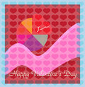 Valentine's Day Devotion Lovers Card Stock Photos