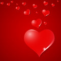 Valentine`s Day falling in love with hearts background. Royalty Free Stock Photo