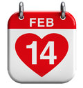 Valentine s day february heart calendar icon Stock Image