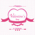 Valentine's Day with full pink heart isolated on white background.