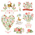 Valentine 's day graphic elements Royalty Free Stock Photography