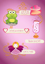 Valentine`s day graphic elements and characters, vector collection