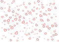 Valentine's Day greeting card with heart on white background Stock Photos