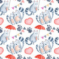 Valentine`s Day greeting card template, seamless pattern Royalty Free Stock Photo