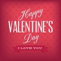 Valentine s day happy text on special background Stock Photo