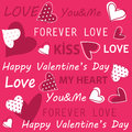 Valentine s day happy valentines greeting card Stock Photography