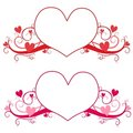 Valentine's Day Heart Logo or Labels Royalty Free Stock Photo