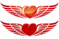 Valentine's Day Heart with wing Royalty Free Stock Images
