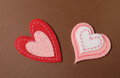 Valentine s day hearts heart shapes decorations for Stock Photography
