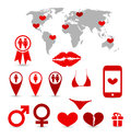 Valentine s day infographics and design elements illustration Royalty Free Stock Image