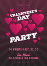 Valentine`s Day invitation flyer. The template for the club, musical evenings. Speech by musicians, DJs. Night festive