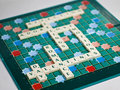 Valentine's day leitmotiv scrabble Royalty Free Stock Photography