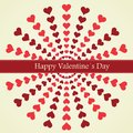 Valentine s day lettering greeting card happy background vector illustration Royalty Free Stock Photos