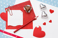 Valentine's day love message, unfinished Royalty Free Stock Photo