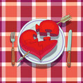 Valentine's Day Lunch Royalty Free Stock Photo