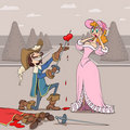 Valentine's Day of musketeer Royalty Free Stock Images
