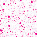 Valentine's Day and pink heart isolated on white background. Vector heart and star on Valentine's Day Background.