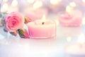 Valentine's Day. Pink Heart Sh...