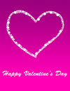 Valentine s day a pink and white card Stock Photography