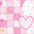 Valentine's day postcard Royalty Free Stock Photos