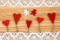 Valentine's Day postcard. Wedding