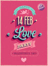 Valentine s day poster vector illustration Stock Photo