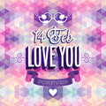Valentine s day poster vector illustration Stock Photography