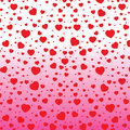 Valentine's Day and red Heart on colorful background. Vector Valentine's Day on white and pink Background. Royalty Free Stock Photo