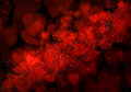 Valentine s day red hearts background bokeh Stock Images