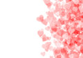 Valentine s day red hearts background bokeh with copy space Royalty Free Stock Photography