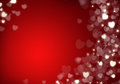 Valentine s day red hearts background bokeh with copy space Stock Photo